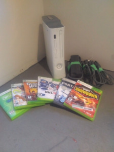 Xbox 360 with games - $50 obo