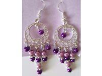 Brand New Purple Pink Drop Earrings