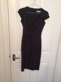 Dark grey pencil midi dress perfect for work!