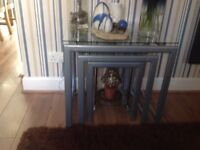 Nest of glass tables excellent condition £30
