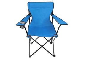 Two folding camping chairs - green and blue - $10 (North Burnaby