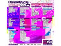 Creamfields Saturday tickets x2 £120