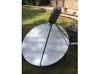 Large satellite dish