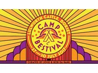 Camp Bestival 2017 Weekend Camping Tickets 1 Ad + 1 CH 5-9