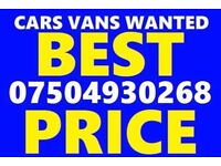 07504930268 sell your car van motorcycle for cash scrap non runners mot failures W