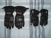 Motorbike gloves black, both winter and summer gloves available