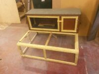 Rabbit hutch and run combined brand new
