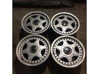 "Speedline 15"" 7J 4x108 Deep dish, original alloy wheels, Classic wheels not ronal. TM AUTO REPAIR"