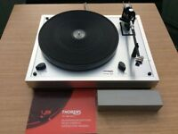 THORENS TD166 MkII RECORD TURNTABLE WITH AUDIO TECHNICA AT110E CARTRIDGE.