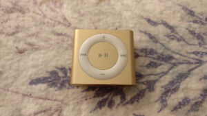 iPod Shuffle 4th Gen Gold Color + Charging Cable