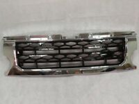 Black Mesh Chrome Surround Discovery 4 style front grille for Land Rover Discovery 3 2005-09