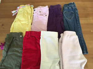 8 pair of 12-18mo girls pants/jeans