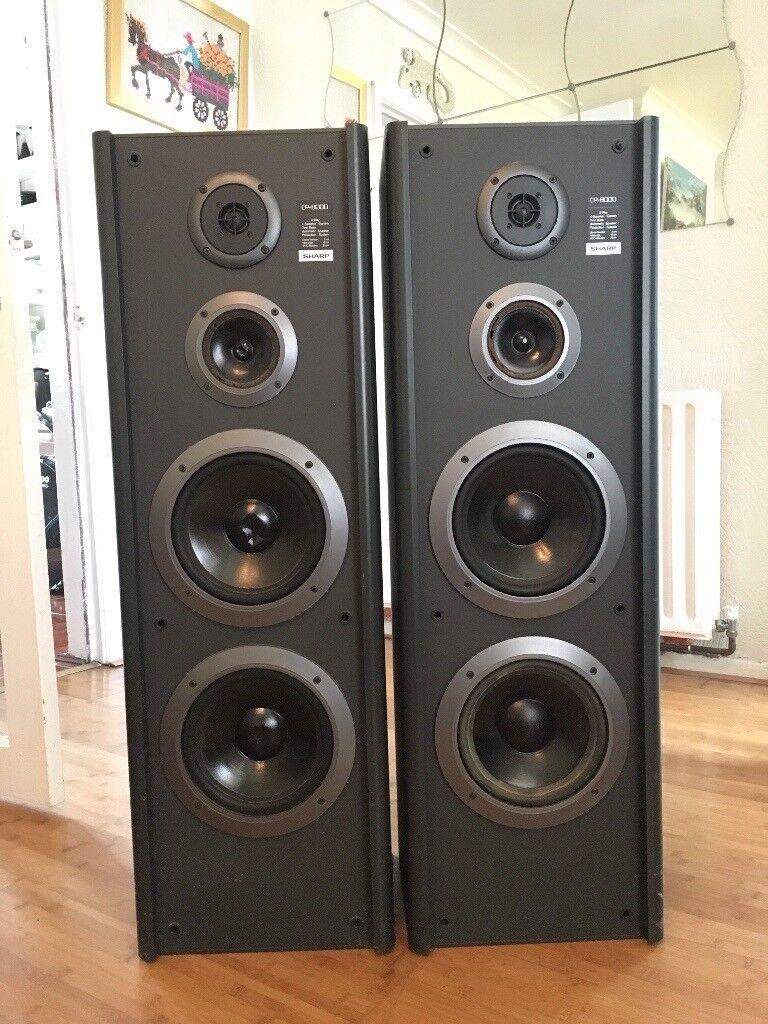 2 Sharp CP 8000 Speakers