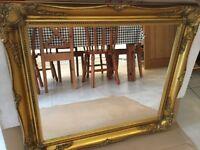 Gold colour mirror