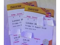 IAAF WORLD CHAMPIONSHIP TICKETS X2 - 11/08/2017
