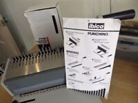 Ibico Punch / Binding Machine complete with spirals Various sizes