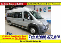 2010 - 10 - FIAT DUCATO 2.2HDI 120PS XLWB 9 SEAT DISABLED ACCESS PTS MINIBUS