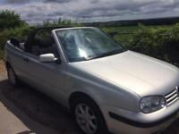 2000 VW Golf cabriolet 1.6 Silver/ swap for classic car/for sale