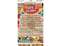 Hope & Glory Festival Liverpool 2 x weekend tickets