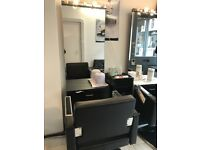 Hair dressing mirrors and chairs for sale