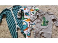 Baby boys 100% NEXT 0-1 first size 11sleepsuits