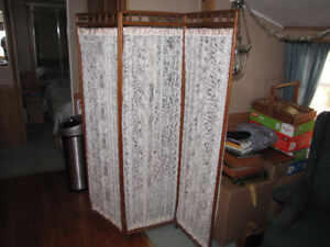 Antique oak privacy screen