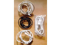 Job Lot of 4 New Aerial Leads Cables in Various Lengths.