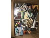 Large box of assorted CDs