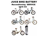 Juice Electric Bike Batteries - Up grades Save £££sss