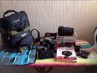 Canon camera 400d bundle