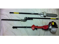 Long reach petrol hedge trimmer / pole trimmer