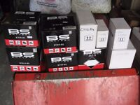 JOB LOT OF 9 BRAND NEW MOTORCYCLE BATTERIES