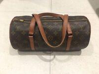 Authentic LV Louis Vuitton LV Papillon pouch Monogram canvas leather women's hand bag, rrp £835