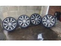 "Vw 19"" Santiago Alloy Wheels & tyres"