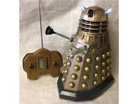 "Dr doctor who RC radio control talking Dalek light & sound fx huge 12"" toy figure"