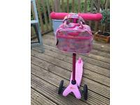Mini Micro Scooter Pink with bag