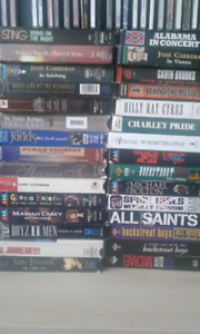 30 Music related/concert VHS tapes