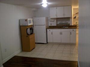 Clean bright East City basement apartment.