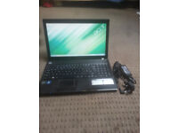 "for sale 15 6"" lcd widescreen laptop with changer £50"