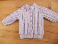 Baby Cardigan - NEW hand knitted