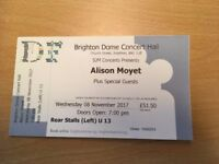 3 x ALISON MOYET TICKETS FOR SALE. BRIGHTON DOME CONCERT HALL