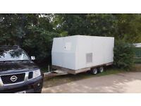 Generator 26 kvA, Fuel Tank and Trailer Setup