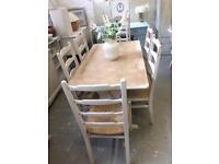Refurbished oak table & 6 chairs