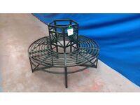 Garden Furniture - Green Metal Round Tree Bench