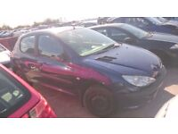 2004 PEUGEOT 206 STYLE, 1.1 PETROL, BREAKING FOR PARTS ONLY, POSTAGE AVAILABLE NATIONWIDE