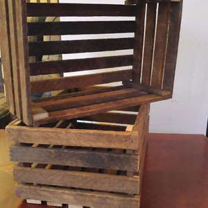 12x18x8 crate made from tobacco slats