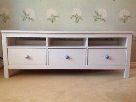 Solid pine white IKEA Hemnes TV bench