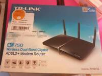 TP-LINK AC 750 wireless ADSL2 + router
