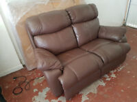 Lovely brown leather 2 seater sofa