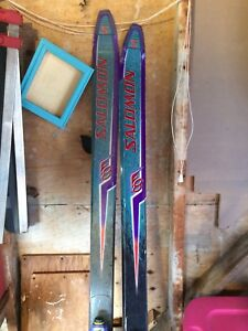 Skiis poles and boots